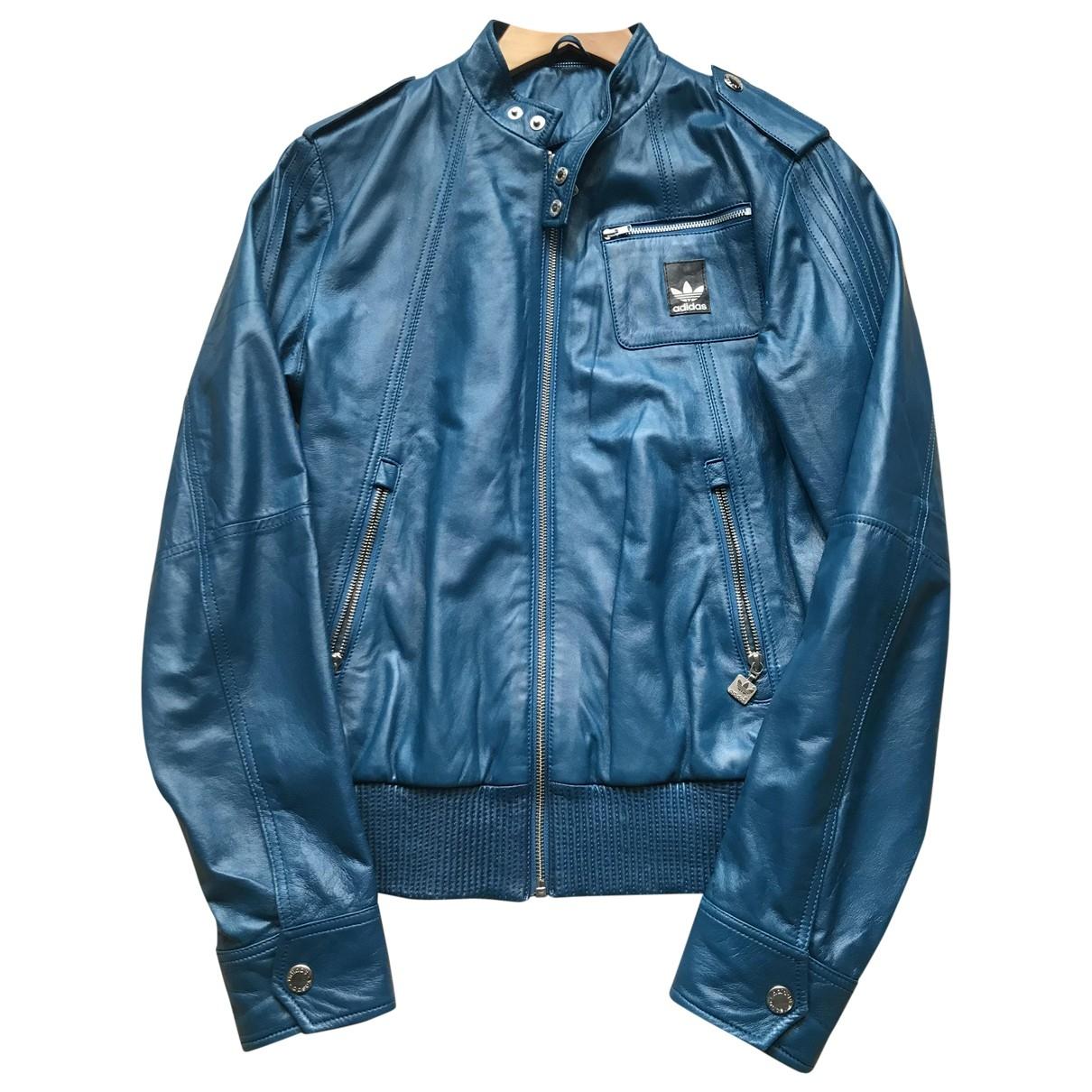 Adidas \N Jacke in  Blau Leder