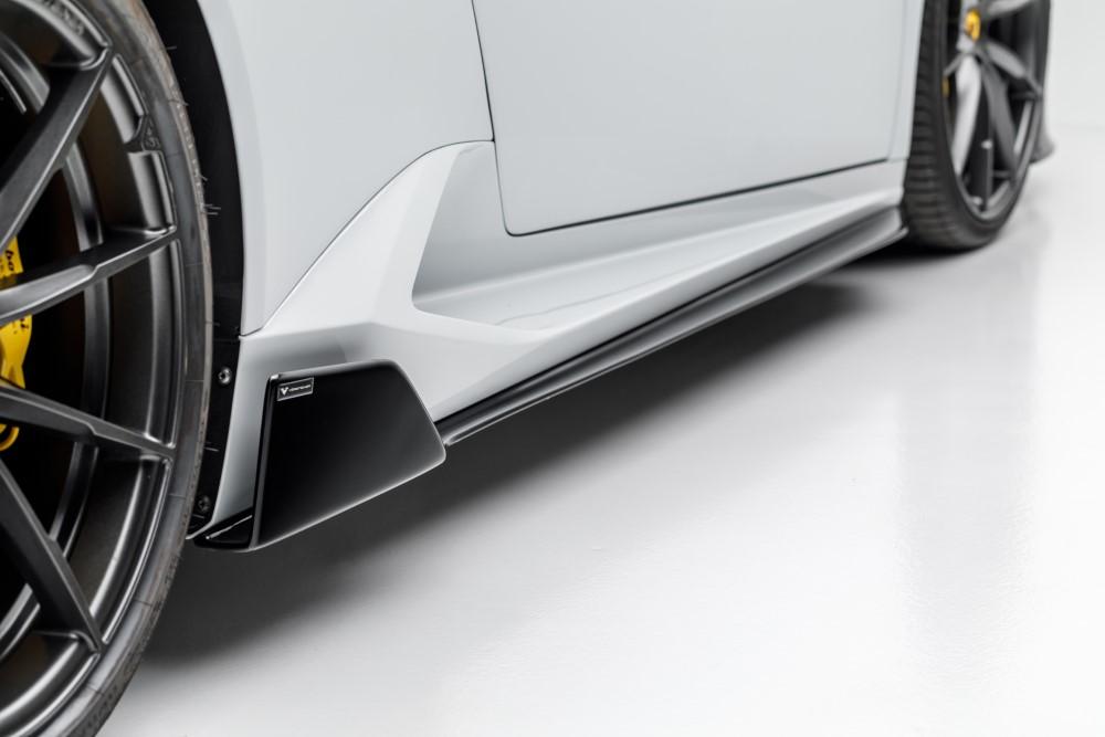 Vorsteiner 0830LOV Mondiale Edizione Glossy Carbon Fiber Aero Side Blade Lamborghini Huracan 2015+