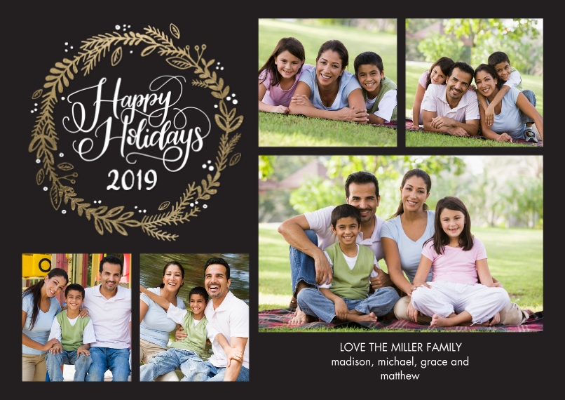 Holiday Photo Cards Flat Matte Photo Paper Cards with Envelopes, 5x7, Card & Stationery -2019 Holiday Rustic by Tumbalina