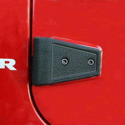 Rugged Ridge Door Hinge Cover Set (Textured Black) - 11202.05