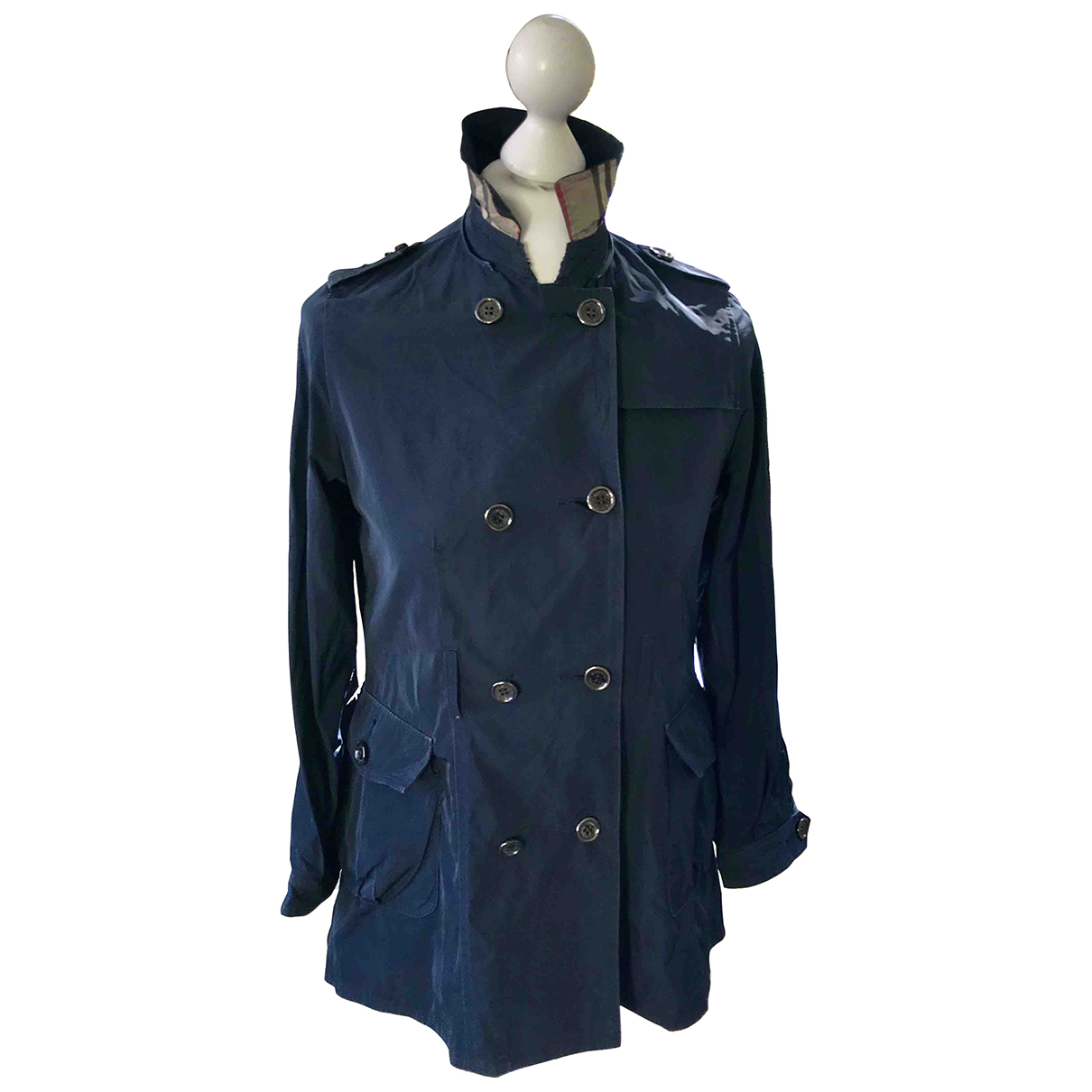 Burberry \N Trench in  Marine Polyester