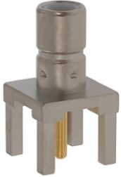 TE Connectivity Straight 50Ω Through Hole Coaxial Connector, jack, Nickel, Solder Termination