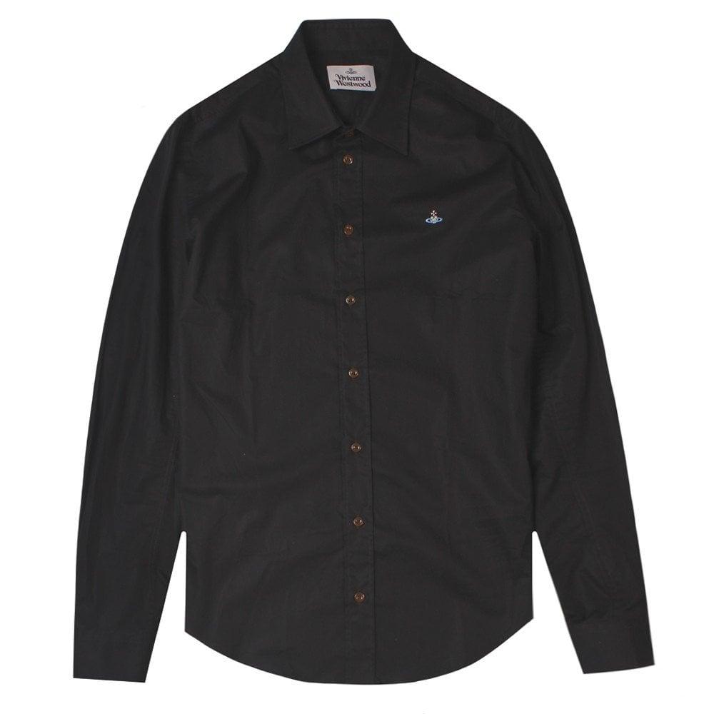 Vivienne Westwood Single Button Shirt Colour: BLACK, Size: EXTRA LARGE