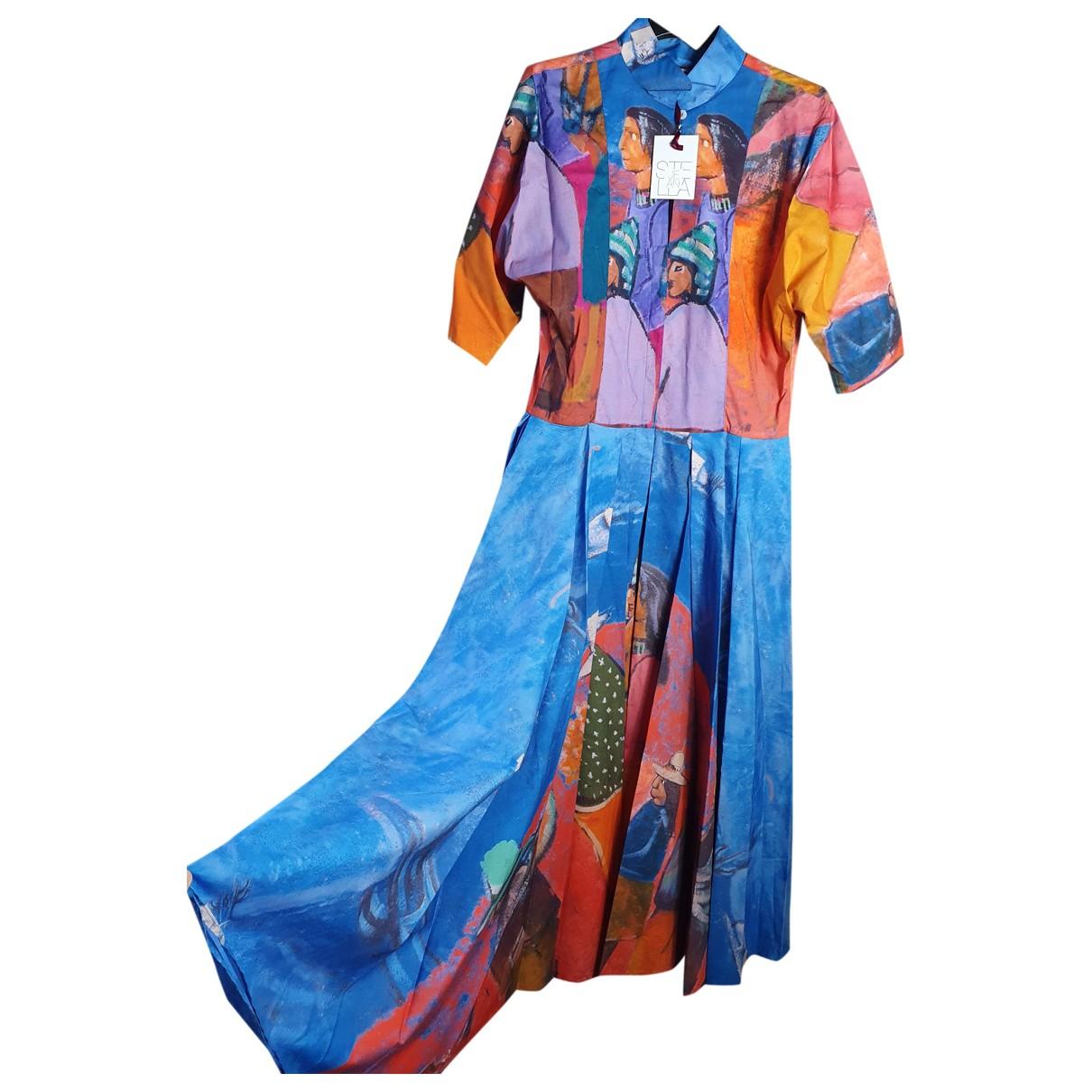 Stella Jean \N Multicolour Cotton dress for Women 46 IT