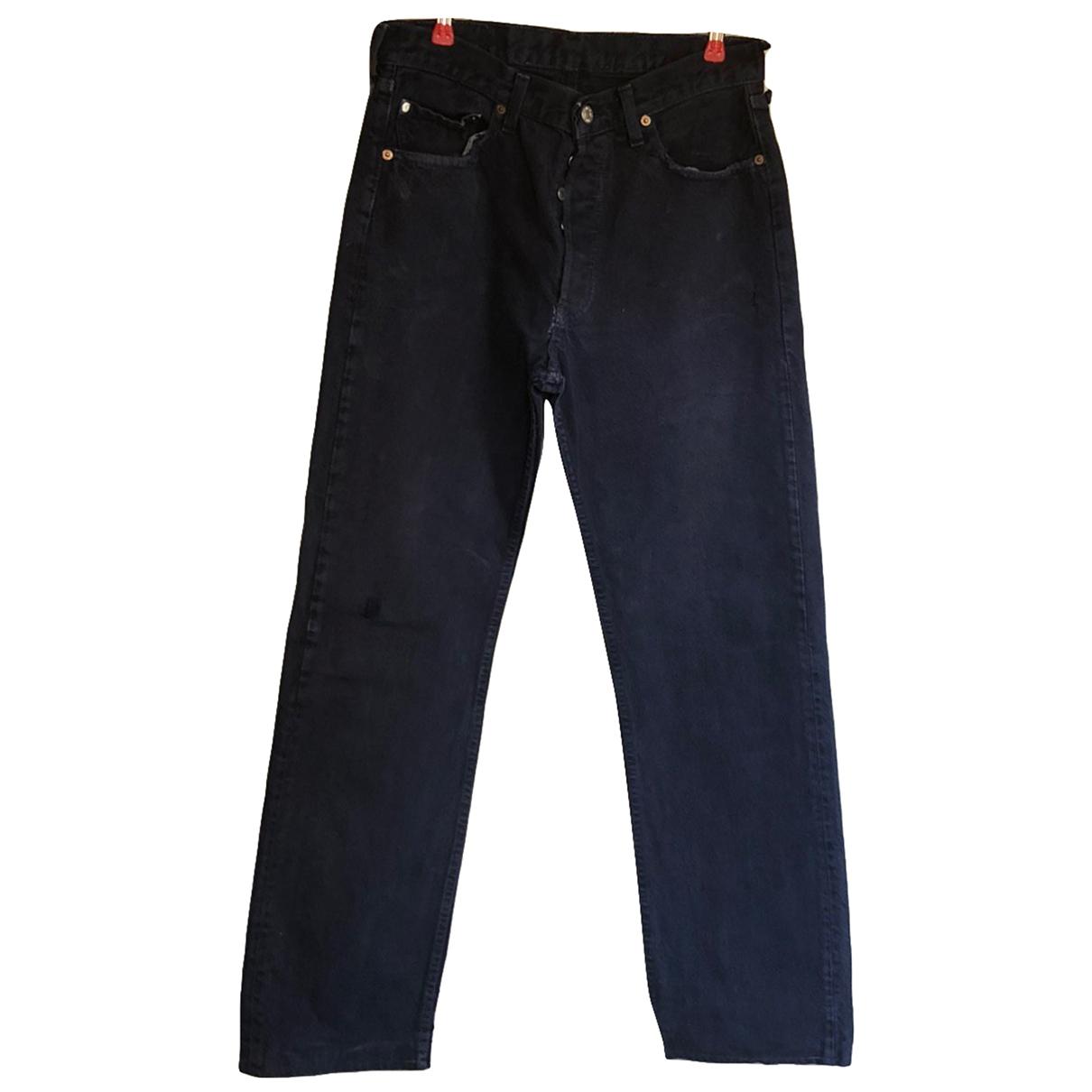 Levi's 501 Blue Cotton Jeans for Men 32 US
