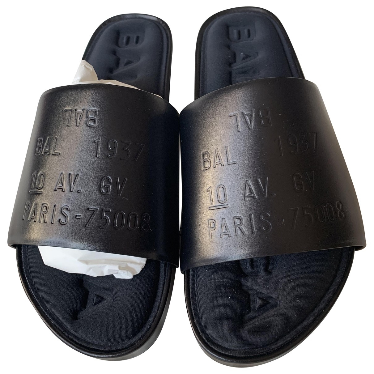 Balenciaga \N Black Leather Sandals for Women 37 EU