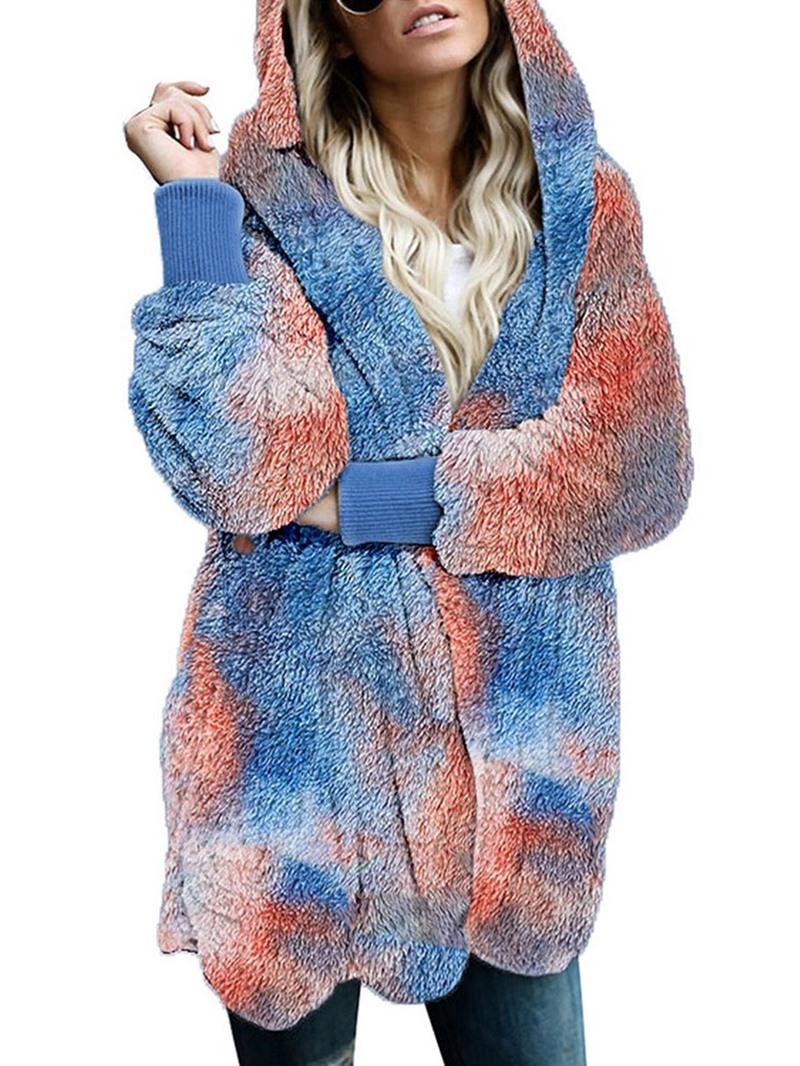 Ericdress Patchwork Loose Mid-Length Winter Overcoat