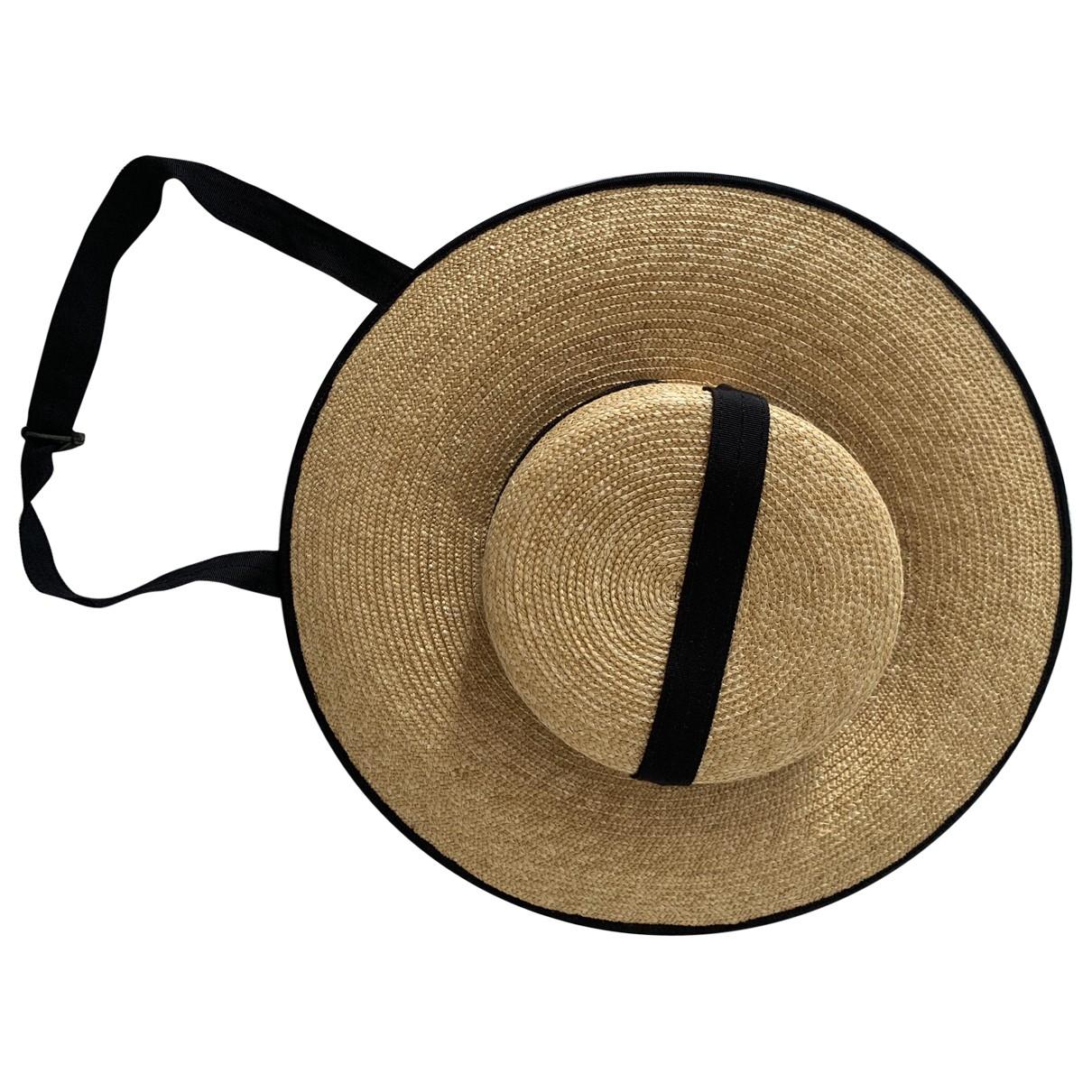 Lola Hats \N Hut in  Beige Stroh