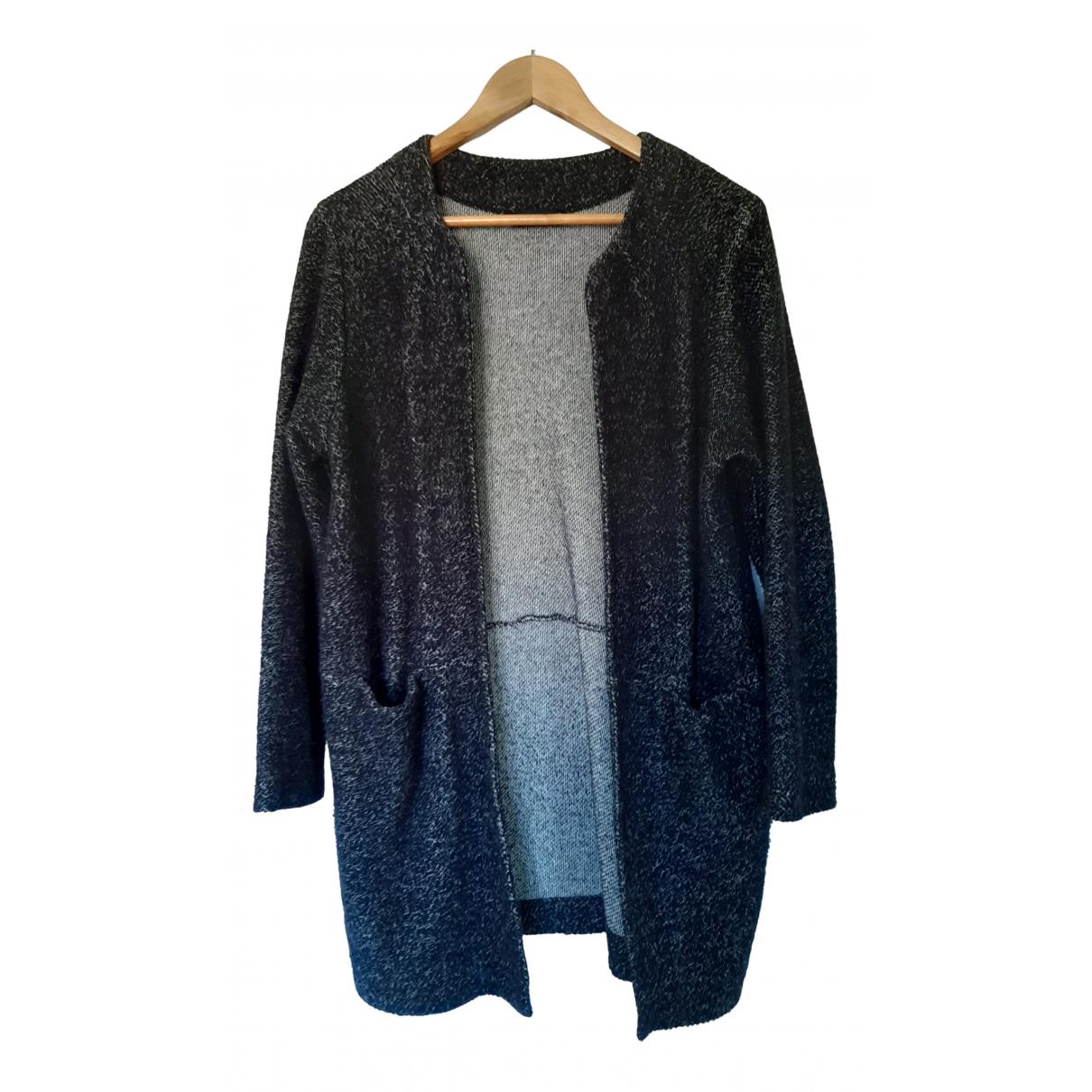 Zara - Veste   pour femme en coton - noir