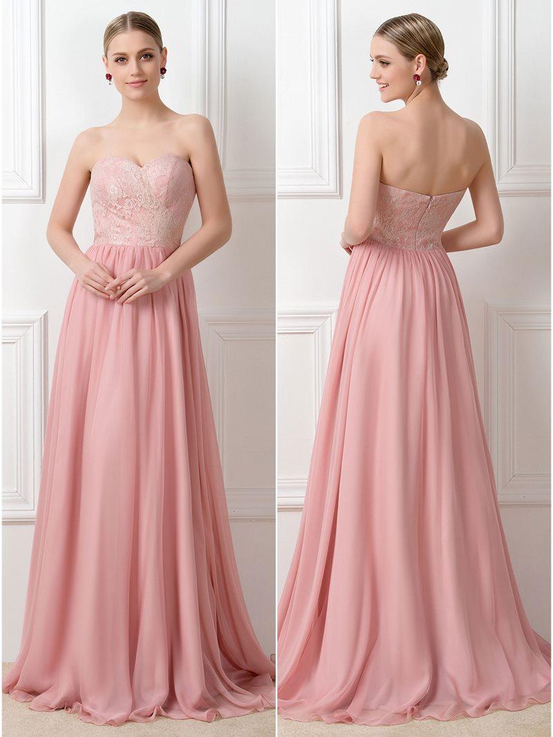Ericdress Lace Convertible Long Bridesmaid Dress