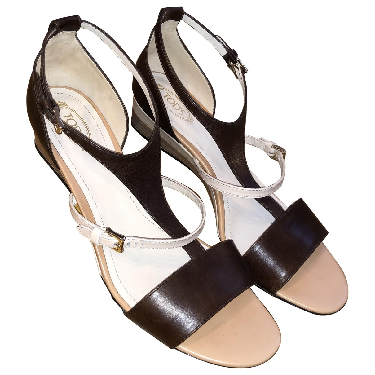 Tod's \N Brown Leather Sandals for Women 41 EU