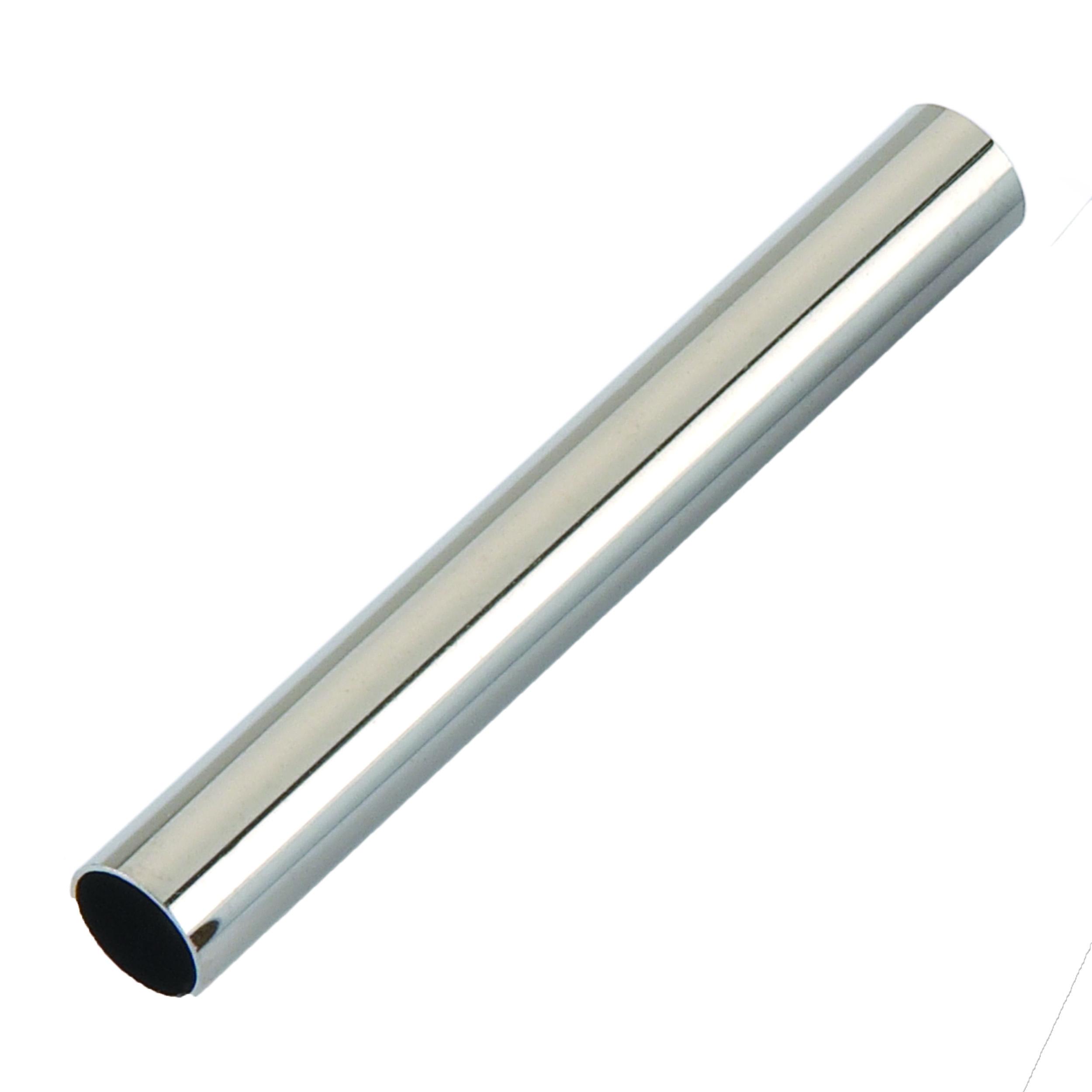 Slim Style Pen Bright Nickel Tubes 5 -Pair