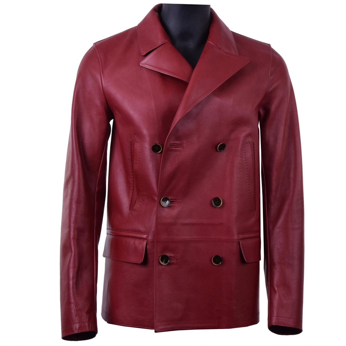 Dolce & Gabbana \N Jacke in  Rot Leder