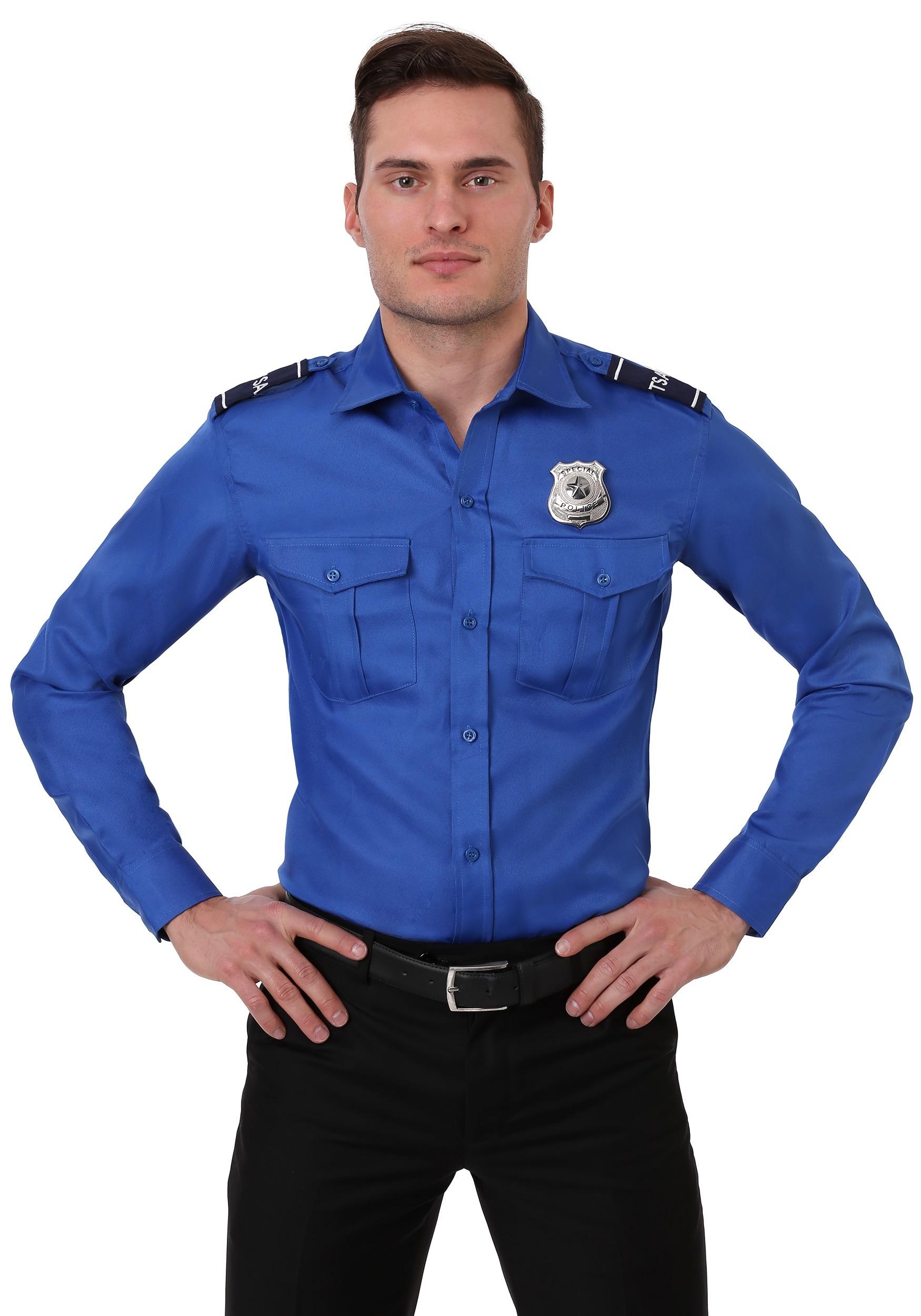 Adult Plus Size TSA Costume Shirt for Men