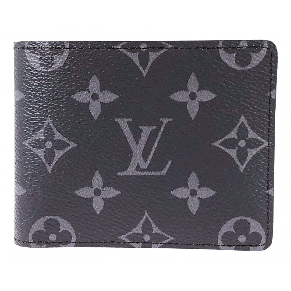 Louis Vuitton \N Kleinlederwaren in  Schwarz Leinen
