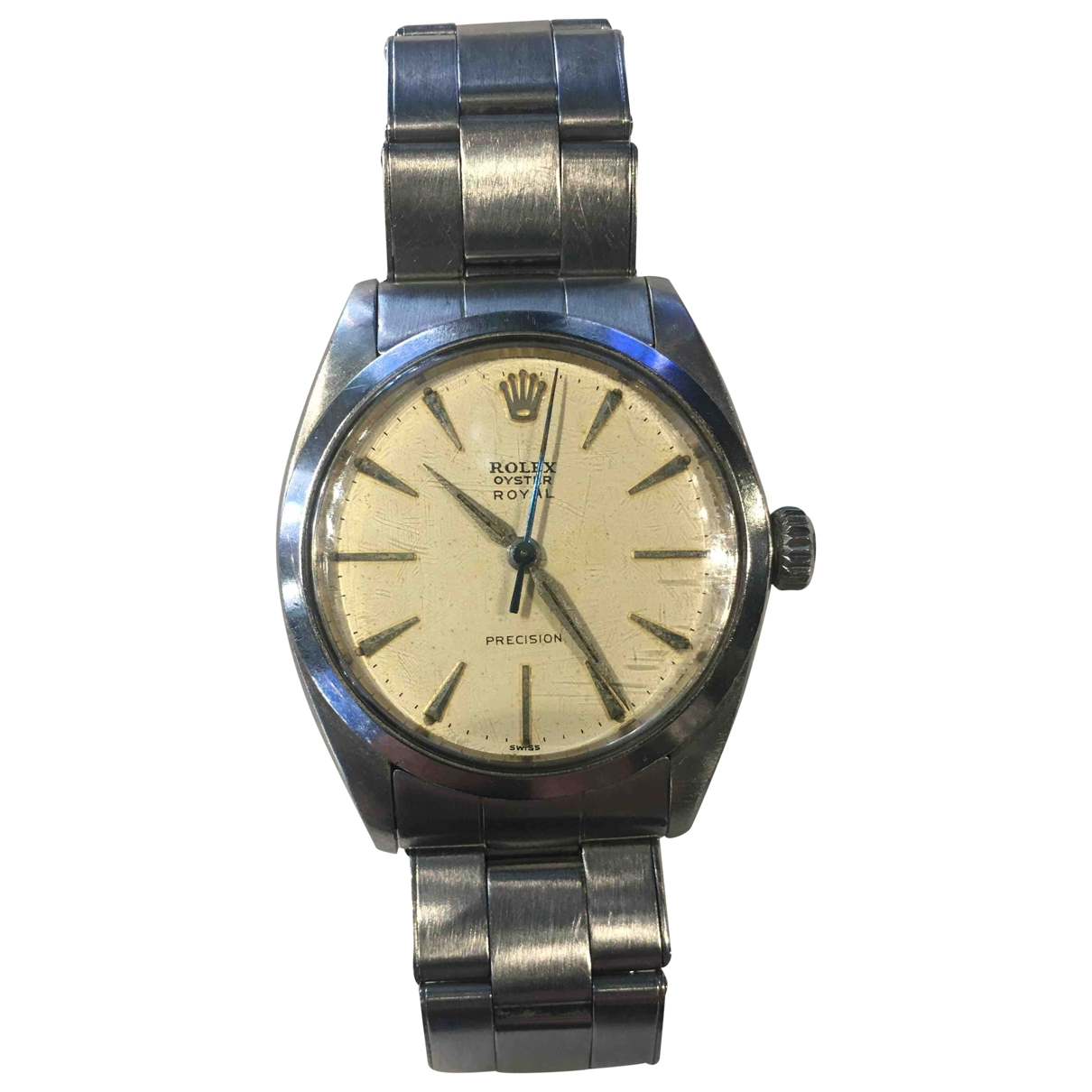 Rolex Oyster Perpetual 34mm Uhr in  Beige Stahl