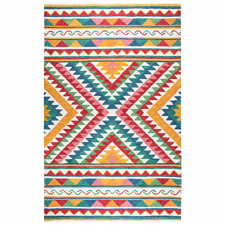 Rizzy Home Zingaro Collection Dyllan Pattern Rectangular Rugs, One Size , White