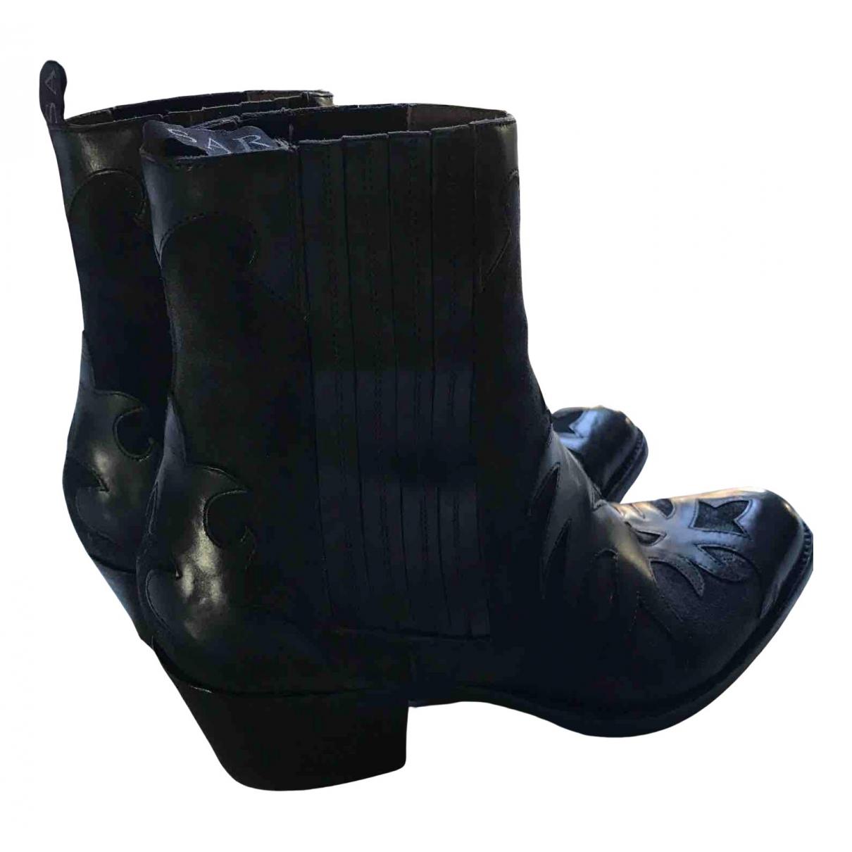 Sartore - Boots   pour femme en cuir - noir