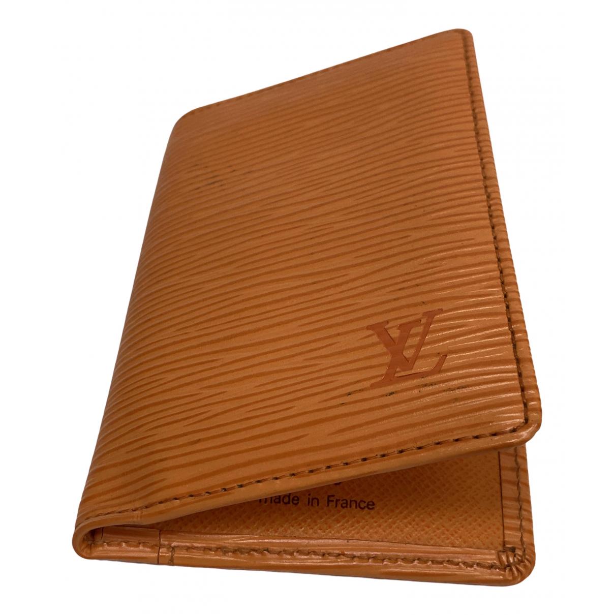 Louis Vuitton \N Kleinlederwaren in  Orange Leinen