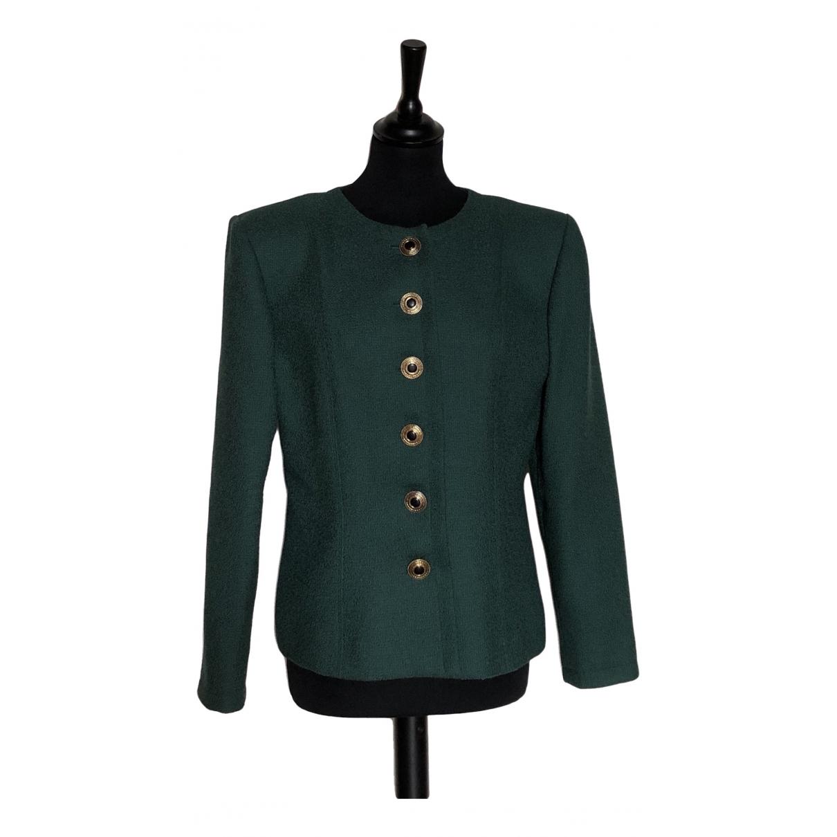 Yves Saint Laurent - Veste   pour femme en laine - vert