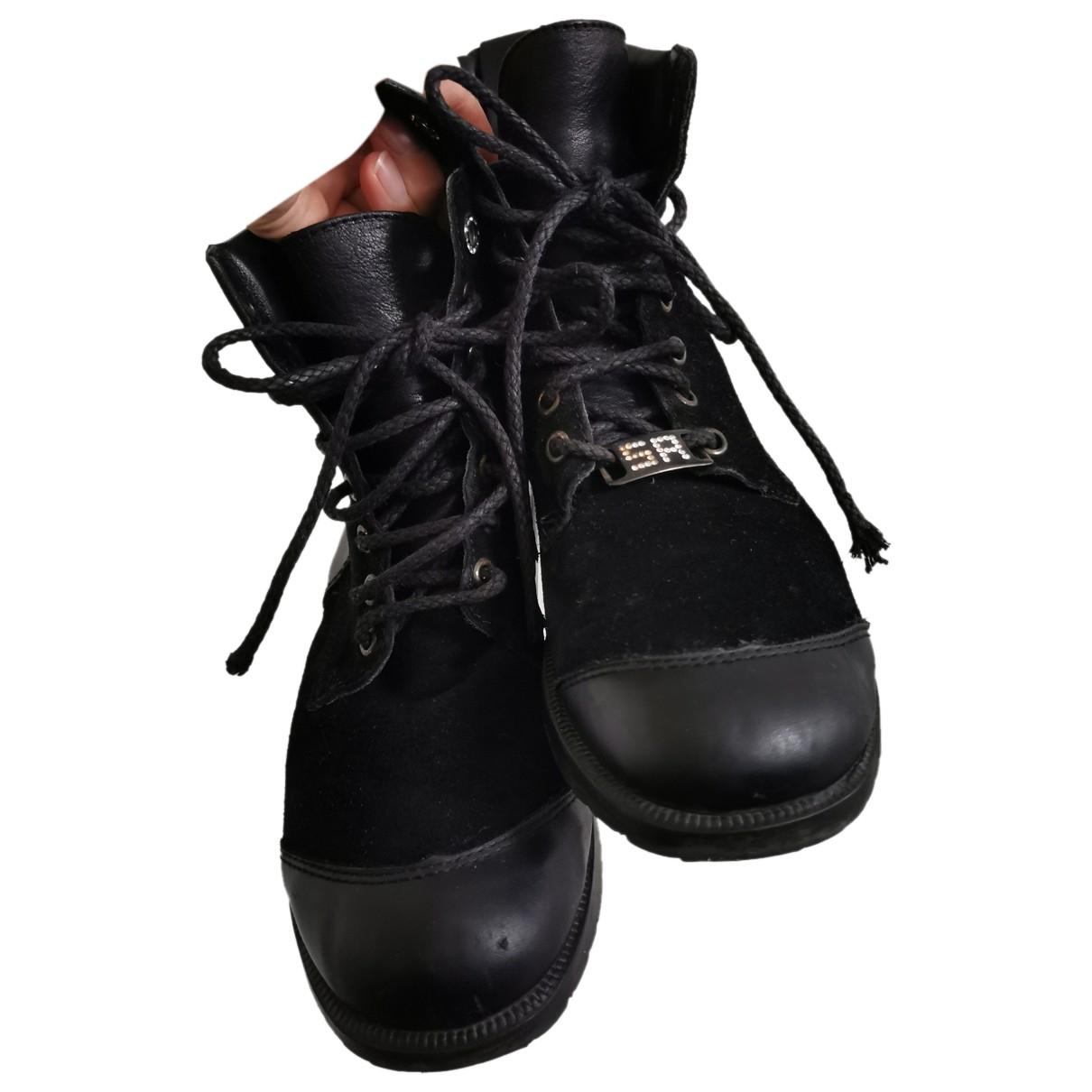 Sonia Rykiel - Boots   pour femme en cuir - noir