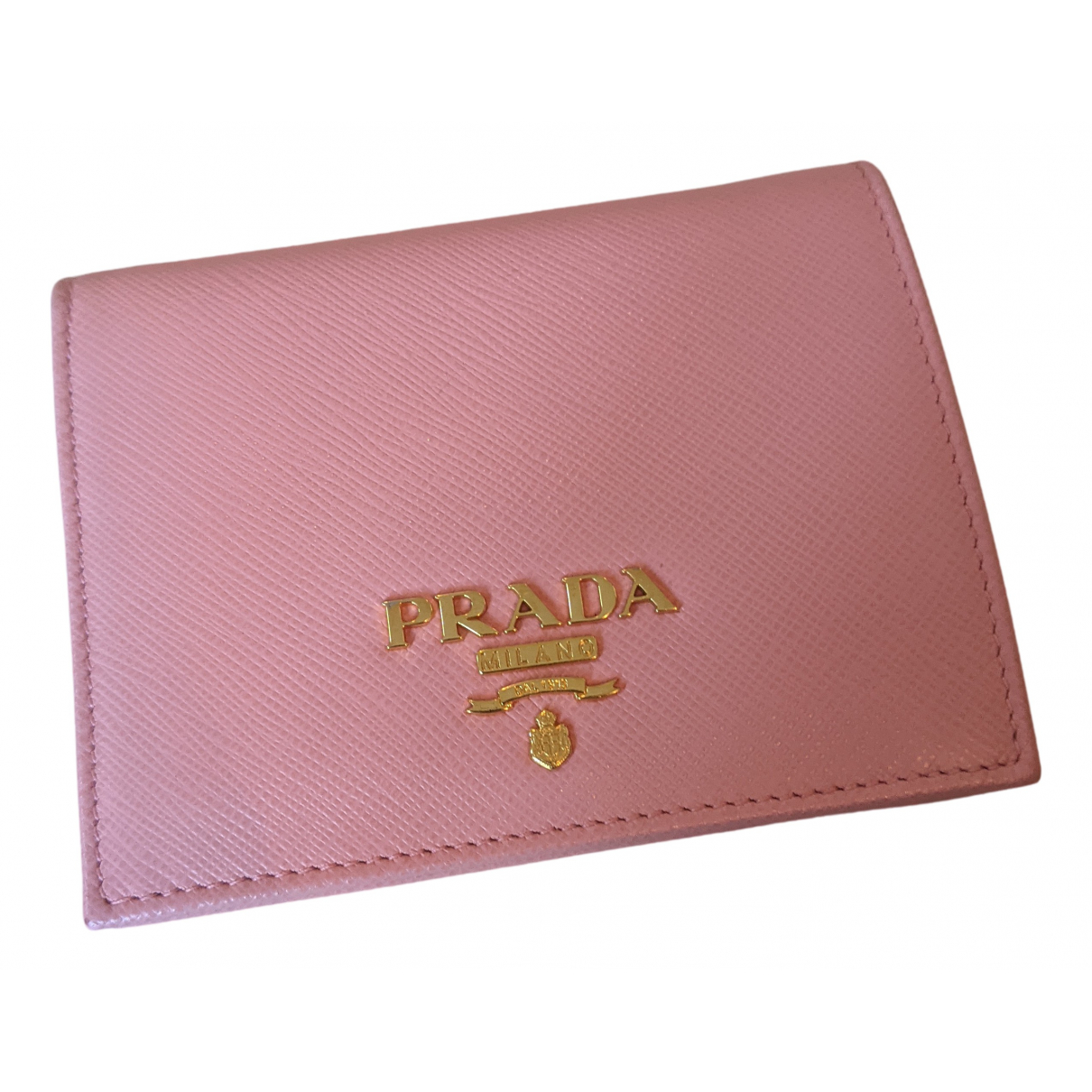 Prada \N Portemonnaie in  Rosa Leder