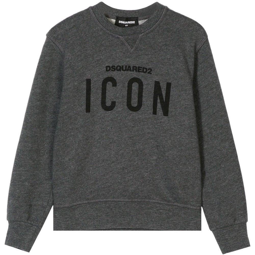 Dsquared2 Kids ICON Sweatshirt Colour: DARK GREY, Size: 10 YEARS