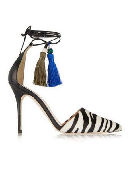 Milanoo Woman\'s High Heels Slip-On Pointed Toe Stripes Stiletto Heel Chic Gladiator Sandals