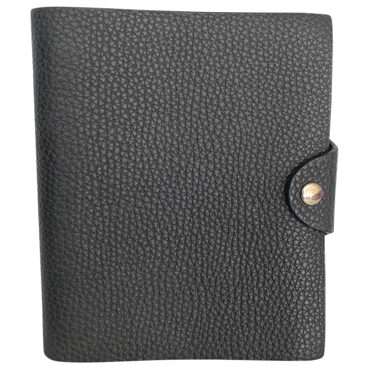 Hermes - Objets & Deco Ulysse PM pour lifestyle en cuir - noir