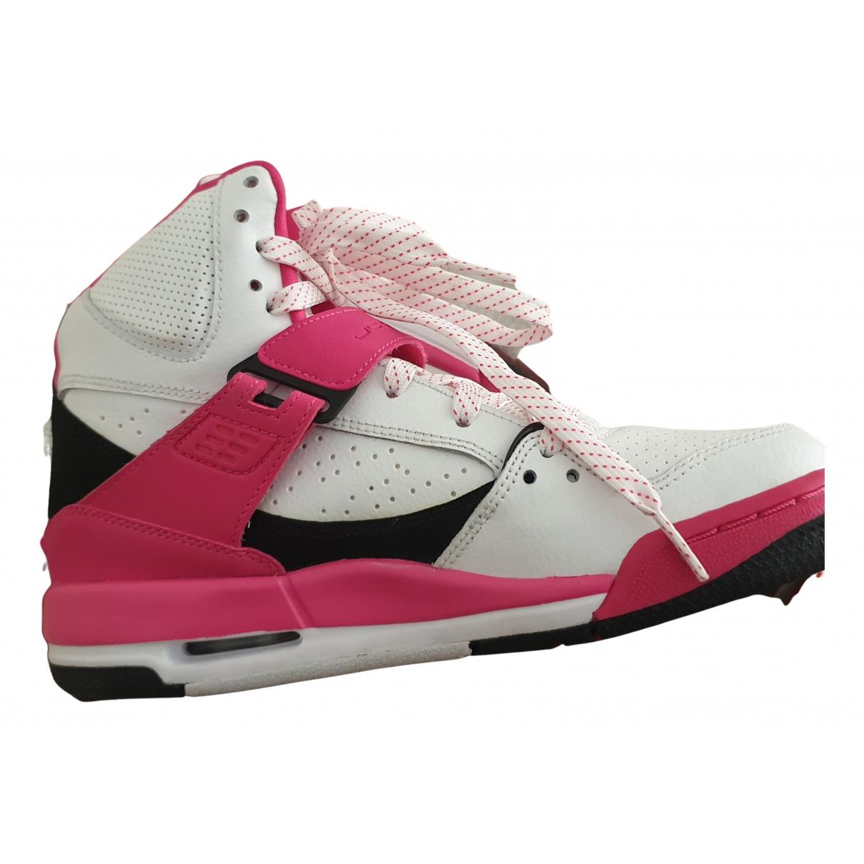 Jordan - Baskets   pour femme en cuir - blanc