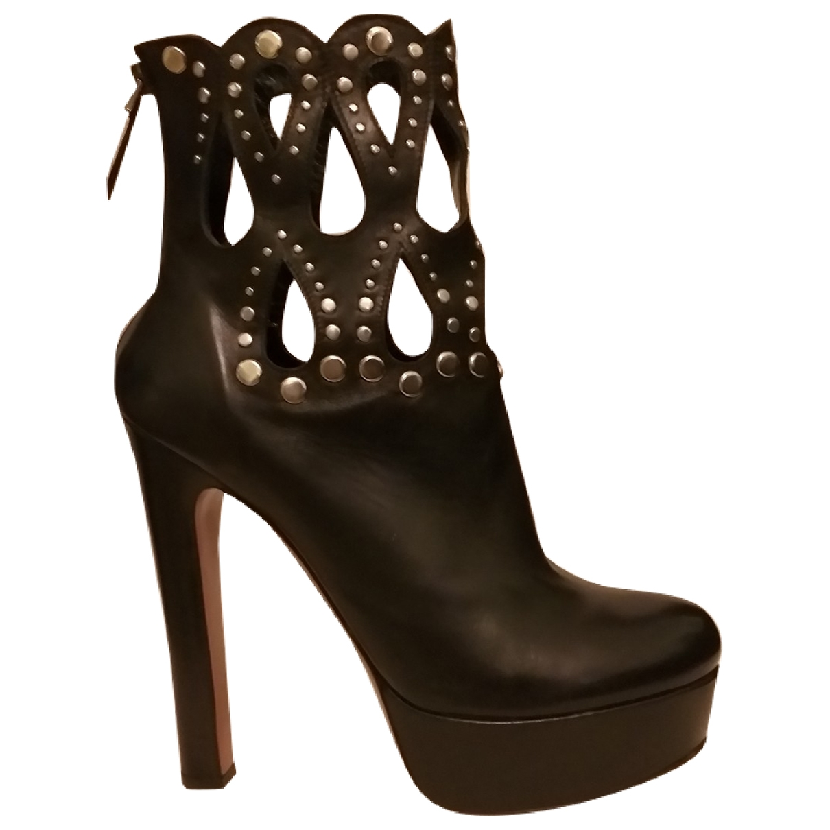 Alaïa \N Black Leather Ankle boots for Women 39 IT