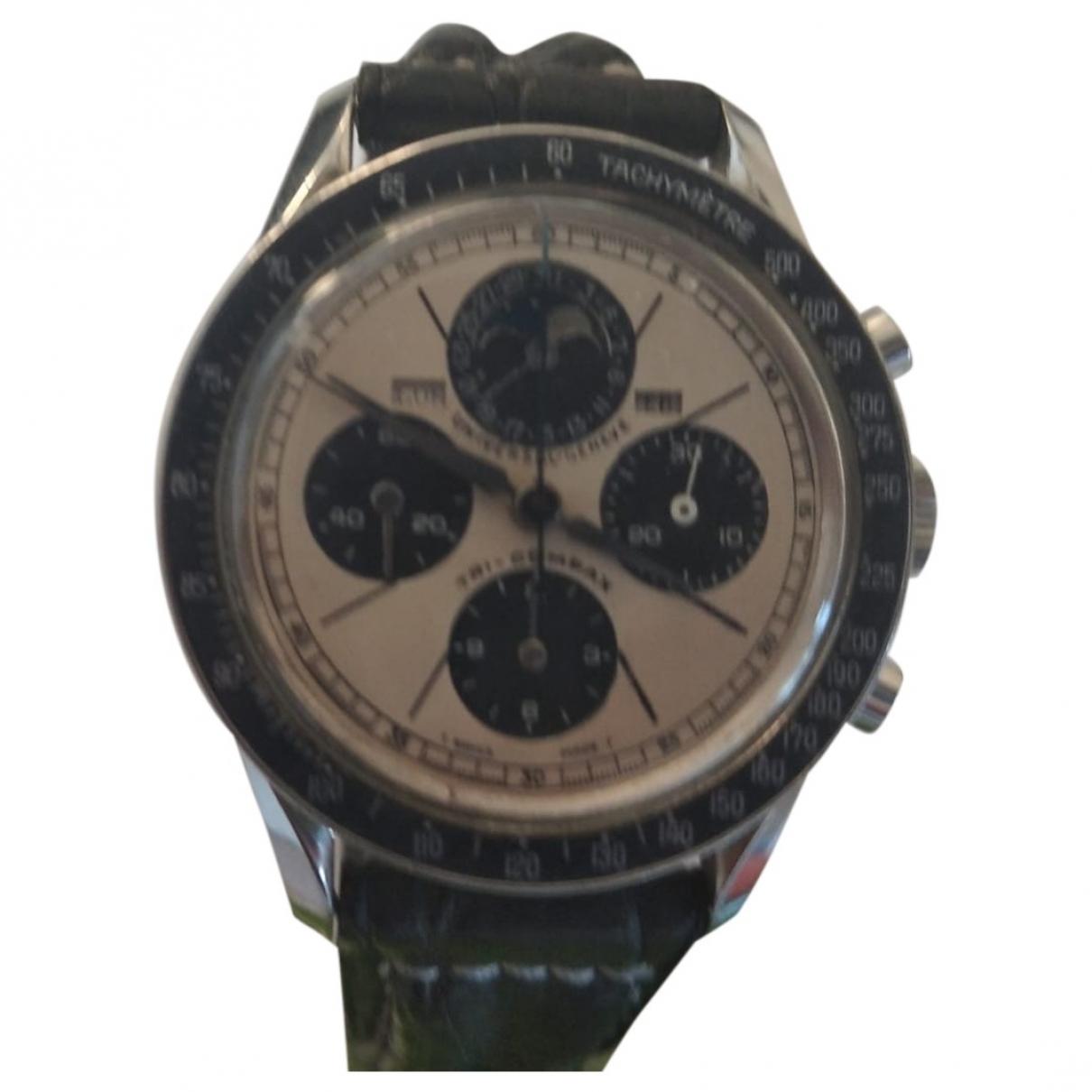 Universal Geneve \N Silver Steel watch for Men \N