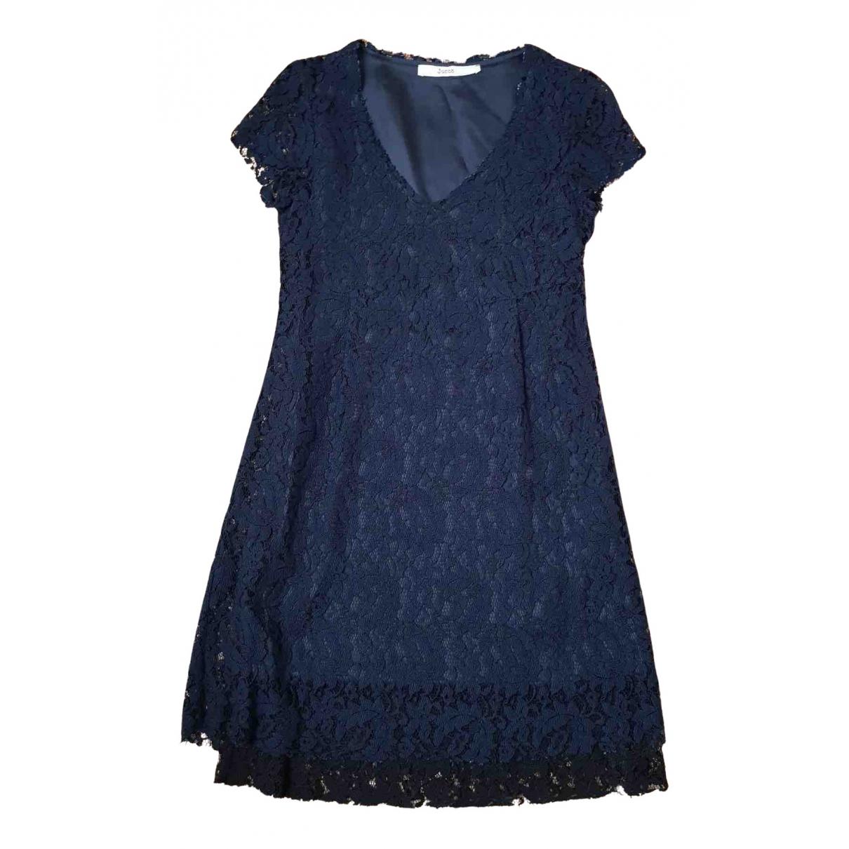 Jucca \N Kleid in  Blau Spitze