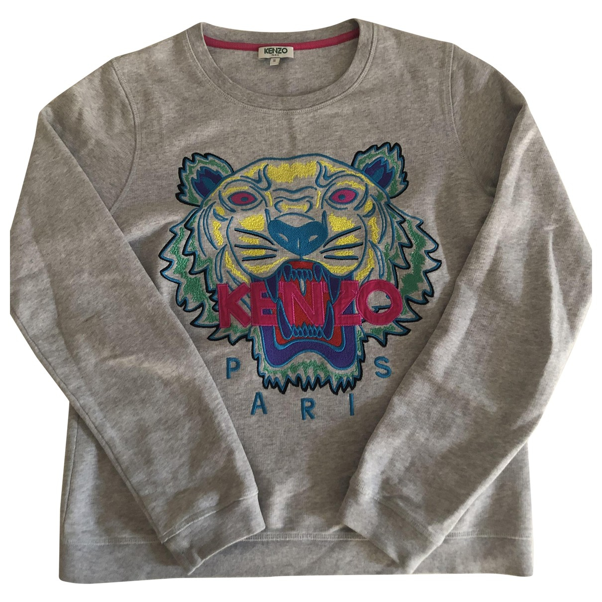 Kenzo \N Pullover in  Grau Baumwolle