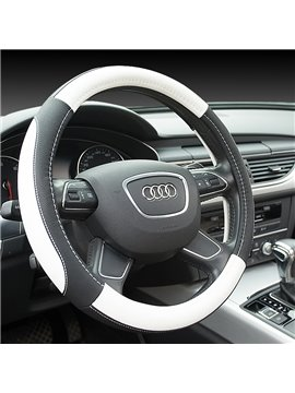 Plain Pattern PU Material Business Style Steering Wheel Cover
