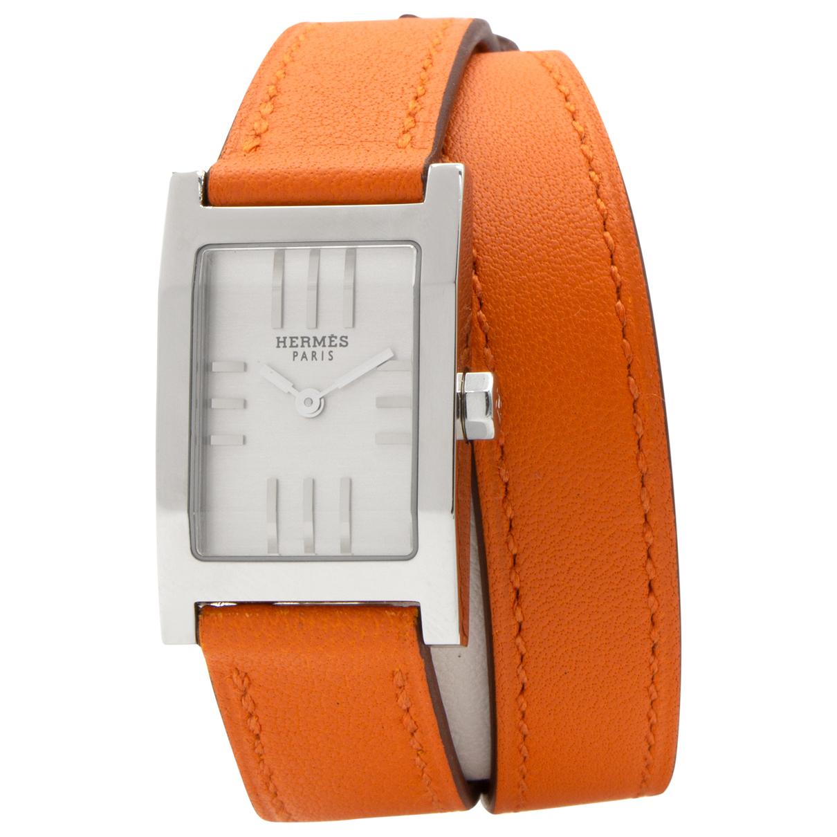 Hermes Tandem Uhr in  Silber Stahl