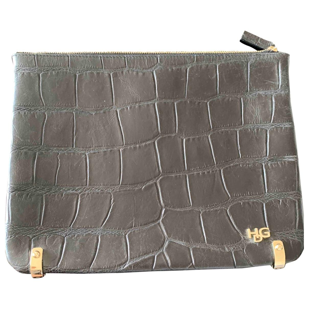 Givenchy \N Clutch in  Schwarz Leder