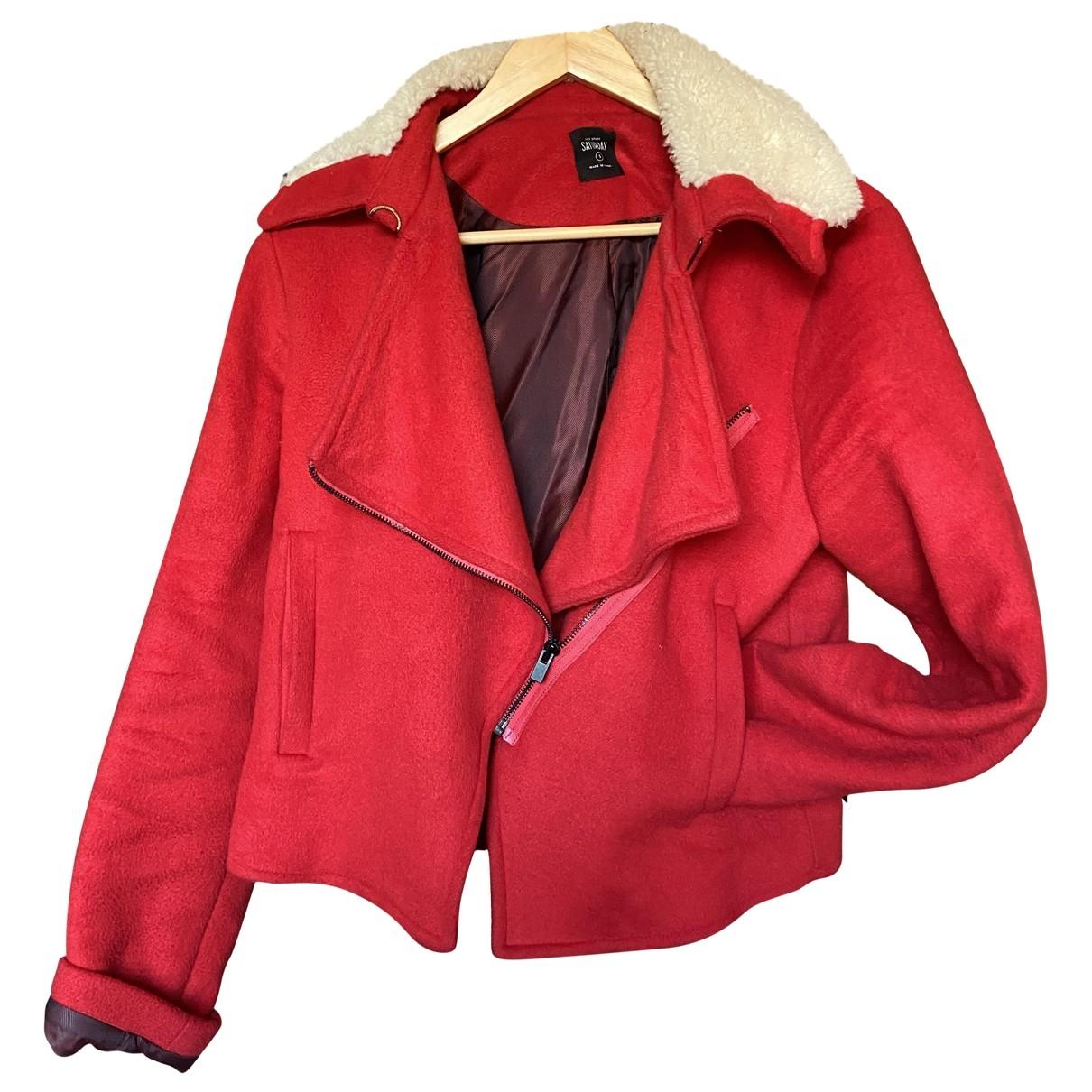 Kate Spade Saturday - Veste   pour femme en laine - rouge