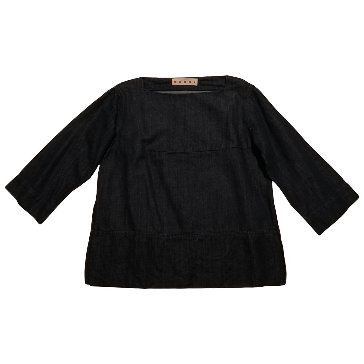 Marni \N Blue Denim - Jeans  top for Women 40 IT