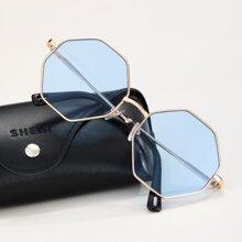 Men Octagon Frame Sunglasses