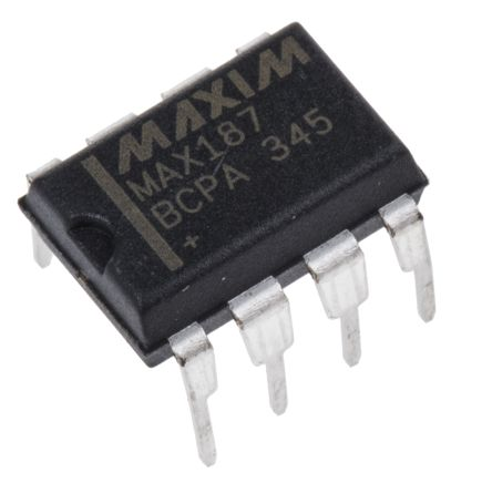 Maxim Integrated MAX187BCPA+, 12-bit Serial ADC, 8-Pin PDIP (50)