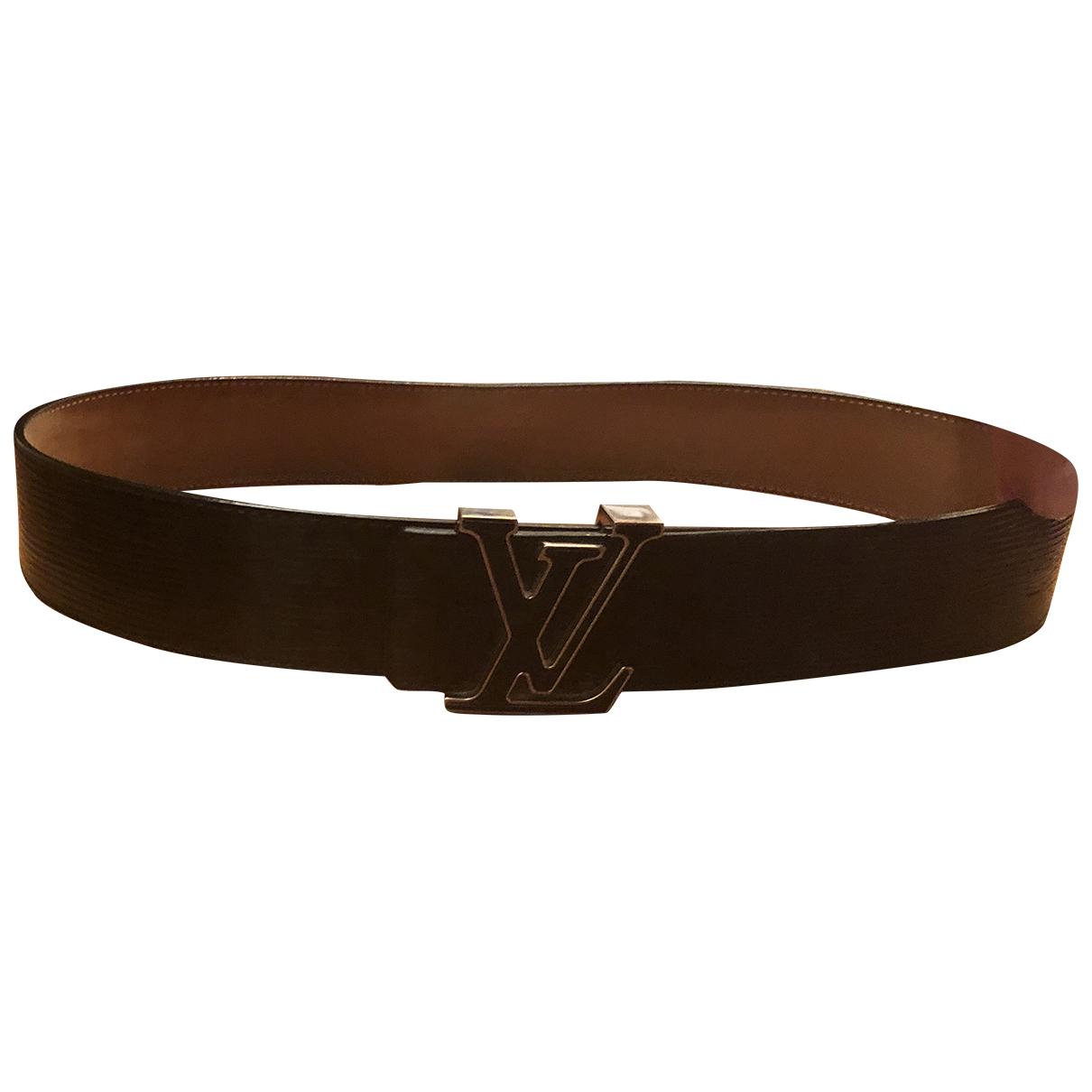 Louis Vuitton N Black Patent leather belt for Men 85 cm