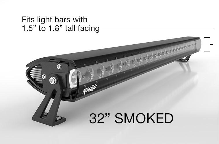 AeroLidz SGL115 **Currently Not Available**LED Light Bar Cover 30 Inch Single Row Smoke