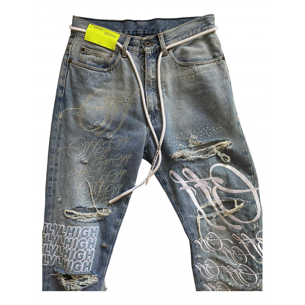 Off-white \N Blue Cotton Jeans for Men 29 US