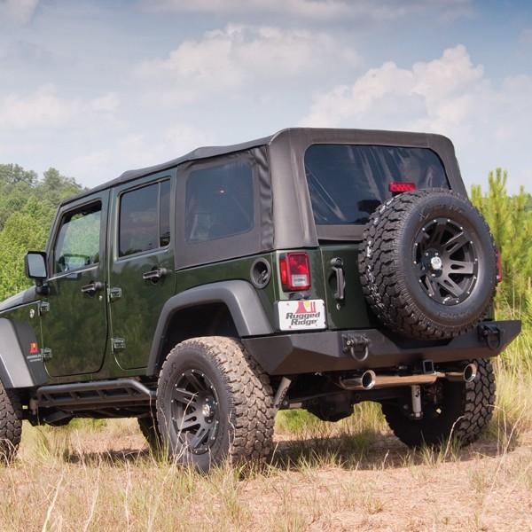 Rugged Ridge 13741.45 XHD Soft Top, Spring Assist, Black Diamond; 07-09 Jeep Wrangler JKU Jeep Wrangler 2007-2009