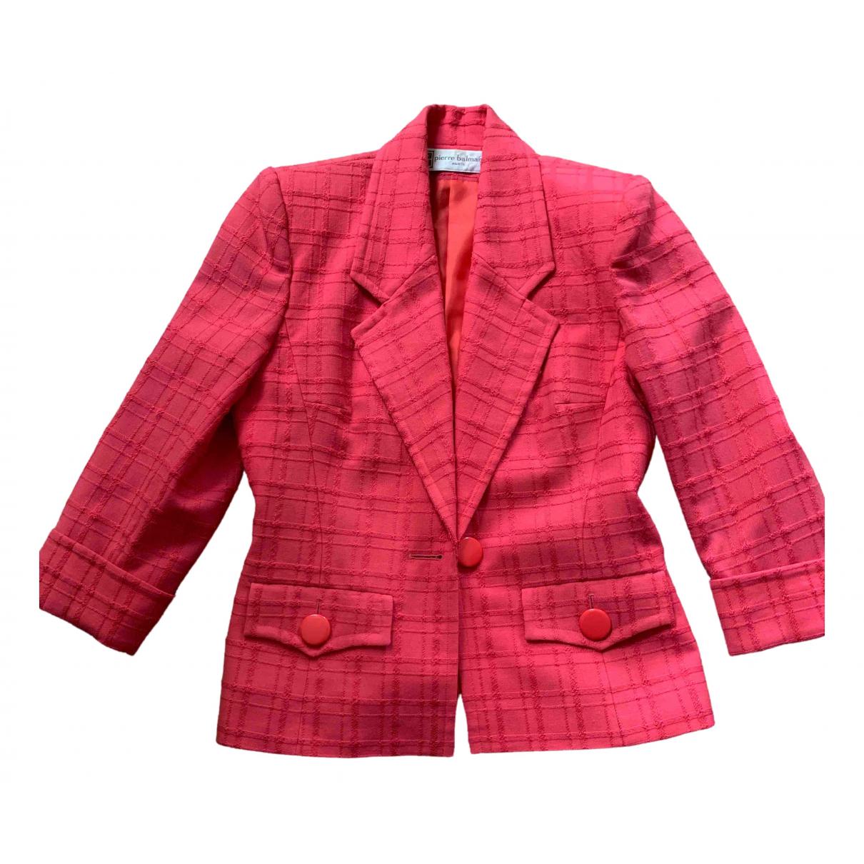 Pierre Balmain - Veste   pour femme en laine - rose