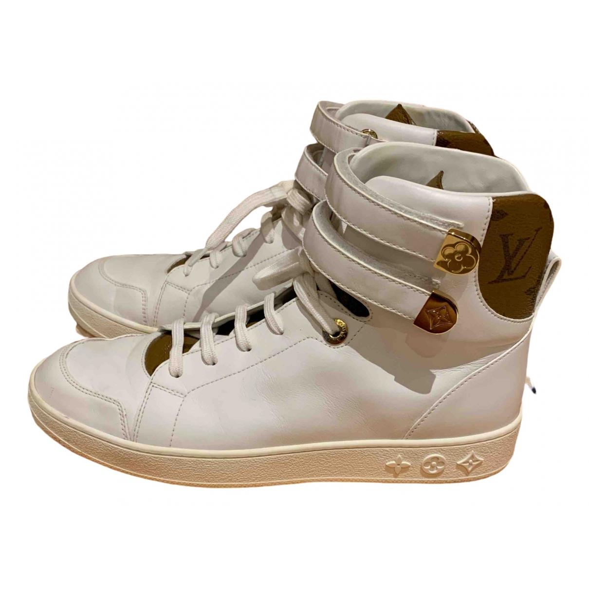 Louis Vuitton - Baskets Stellar pour femme en cuir - blanc
