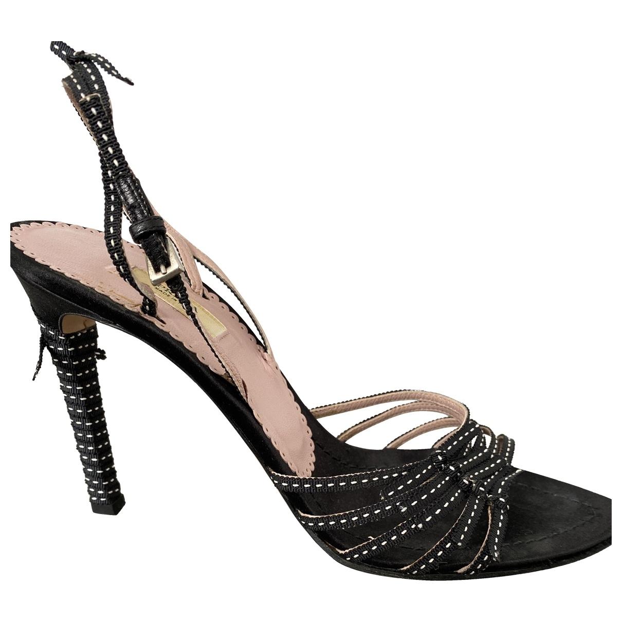 Prada \N Black Cloth Sandals for Women 37 IT