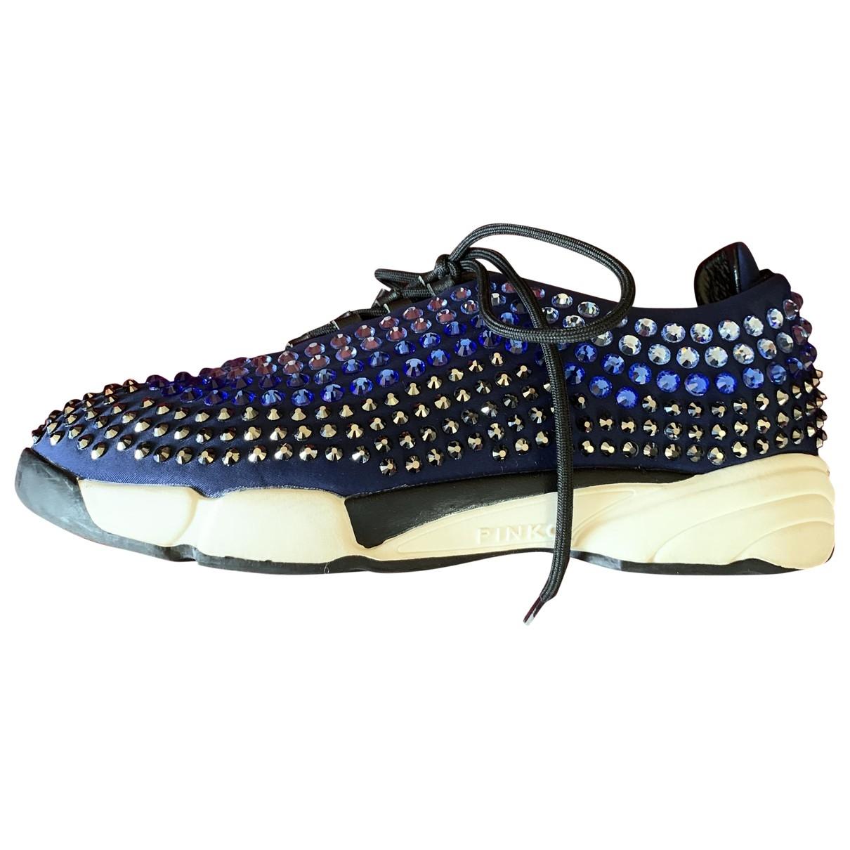 Pinko - Baskets   pour femme en a paillettes - bleu
