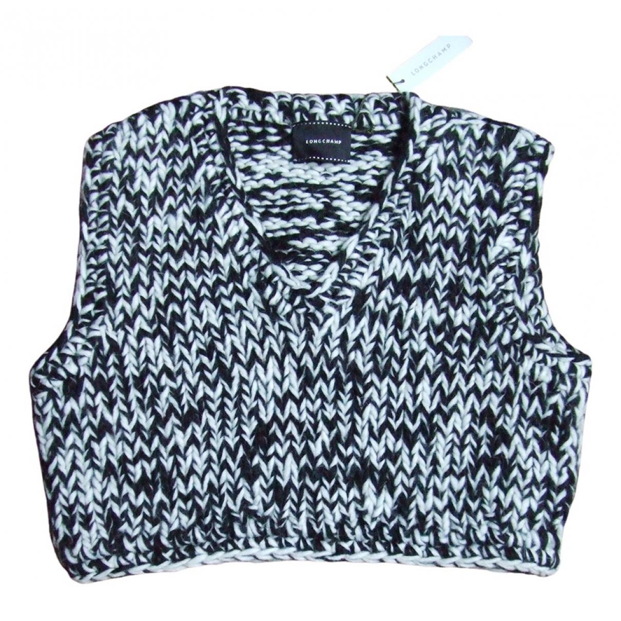 Longchamp - Pull   pour femme en laine - noir